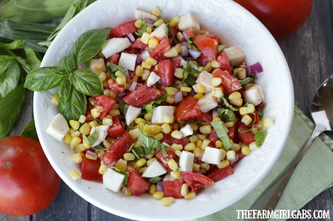 tomato corn and basil salad recipe
